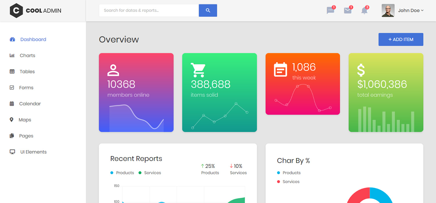 Admin Dashboard Templates - Admin Panel Themes
