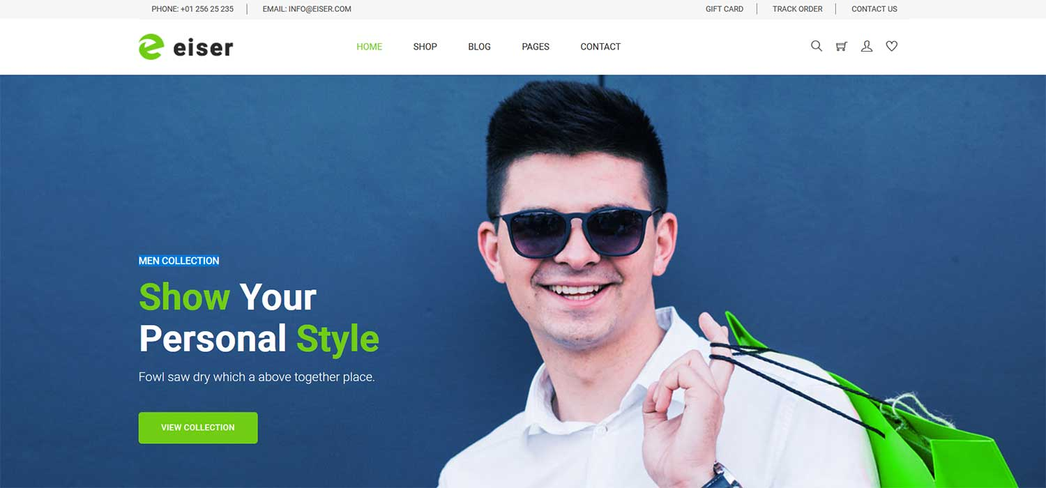 Eiser -‌ ‌‌Free‌‌ Fashion ‌eCommerce Template‌ | HTML5 ‌Bootstrap‌4