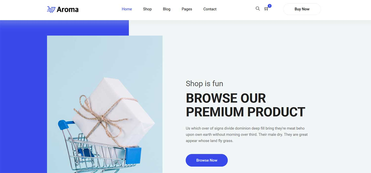 Aroma -‌ ‌‌Free‌ ‌Shopping Website Template | HTML5‌ ‌Bootstrap‌ 4