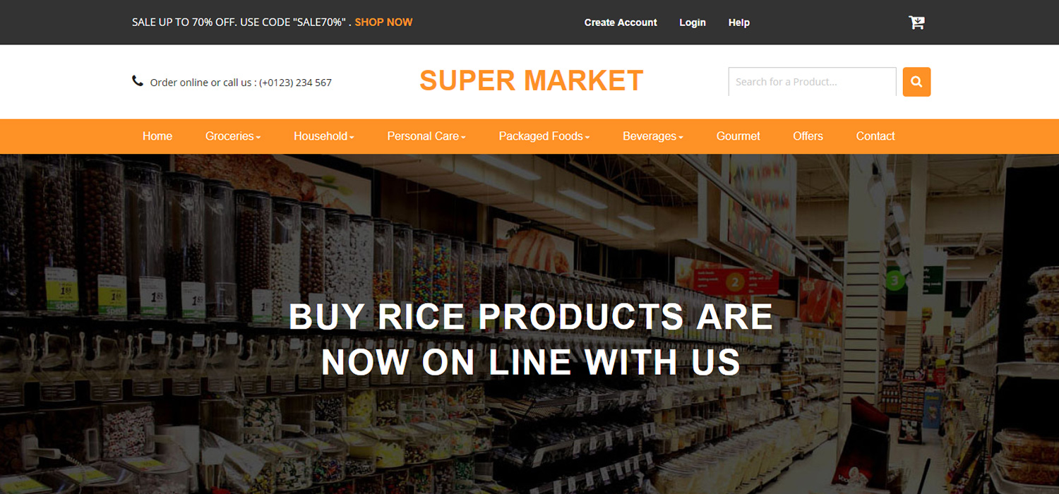 Super Market - Responsive Bootstrap E-commerce Template