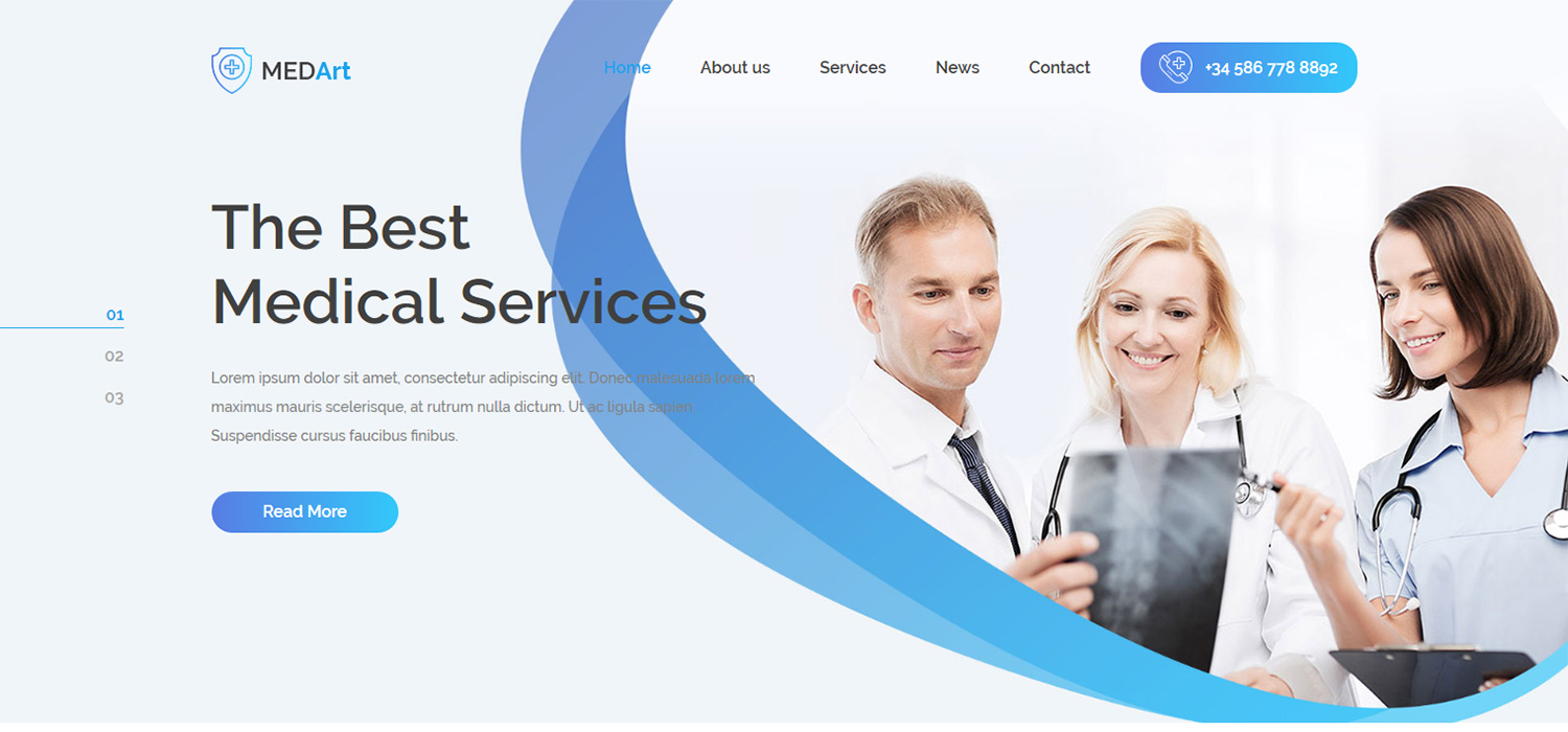 Medart - Free Bootstrap 4 HTML5 medical website template