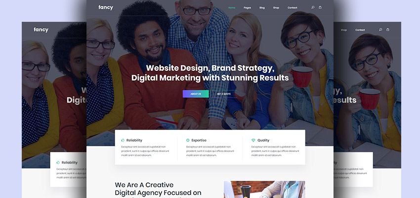 Fancy Website Template