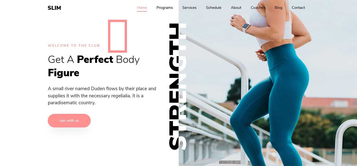 Slim 2 - Free HTML5 Bootstrap Fitness Business Website Template
