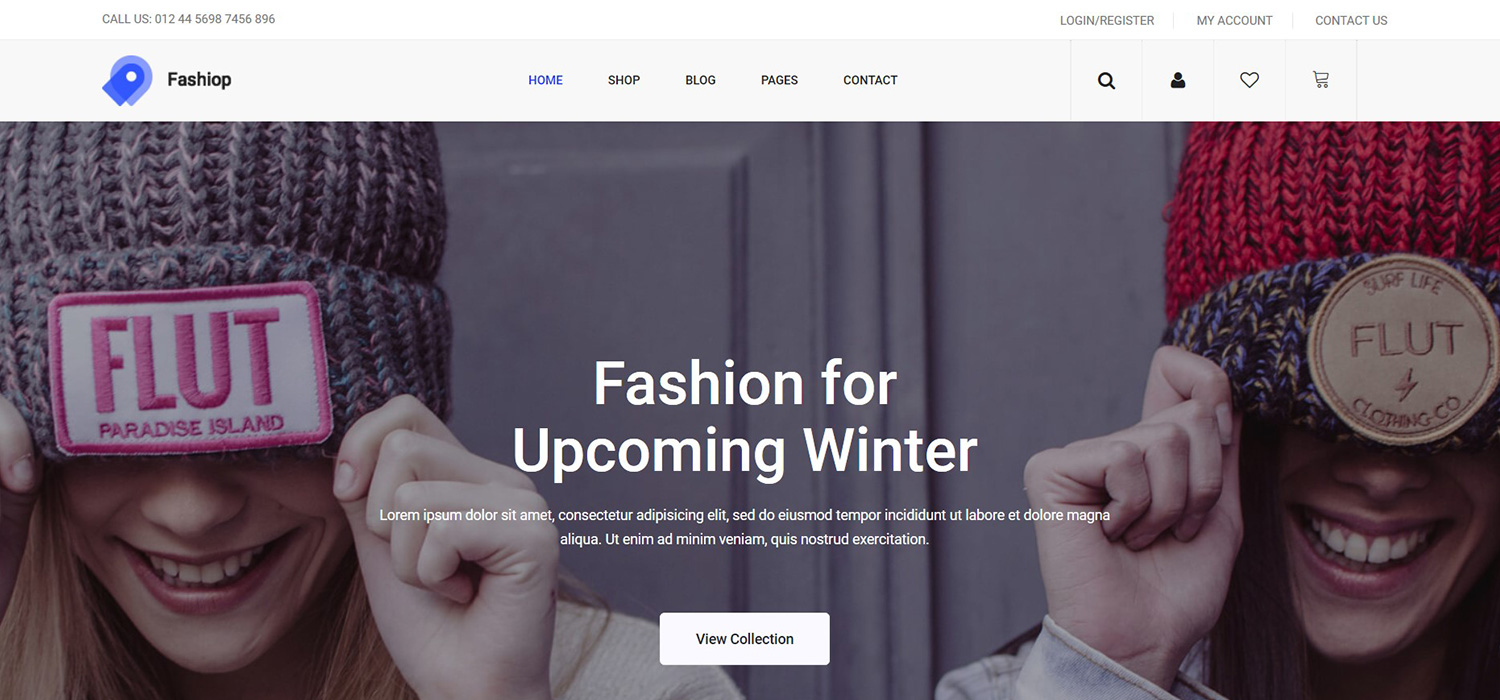 Fashiop - eCommerce Website Template