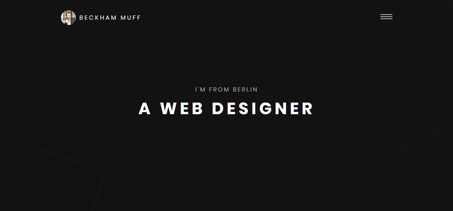 Beckham - Free HTML Portfolio Website Template (By Colorlib)