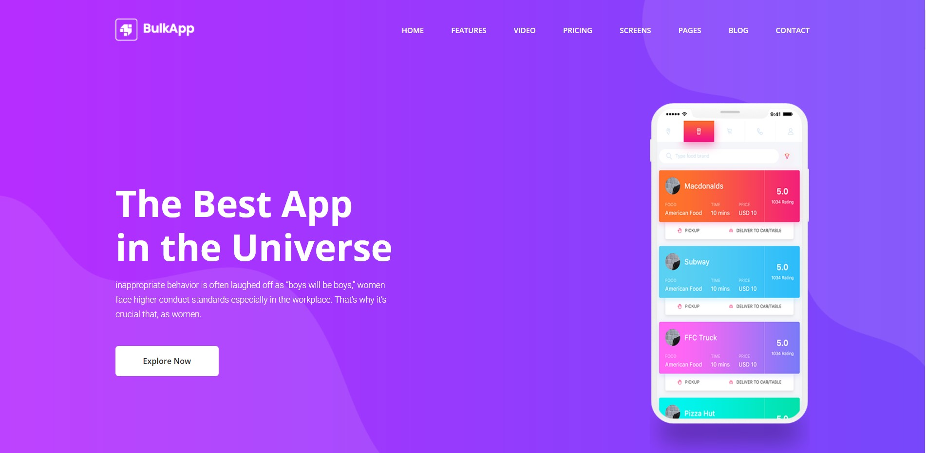 Bulkapp - App Website Template