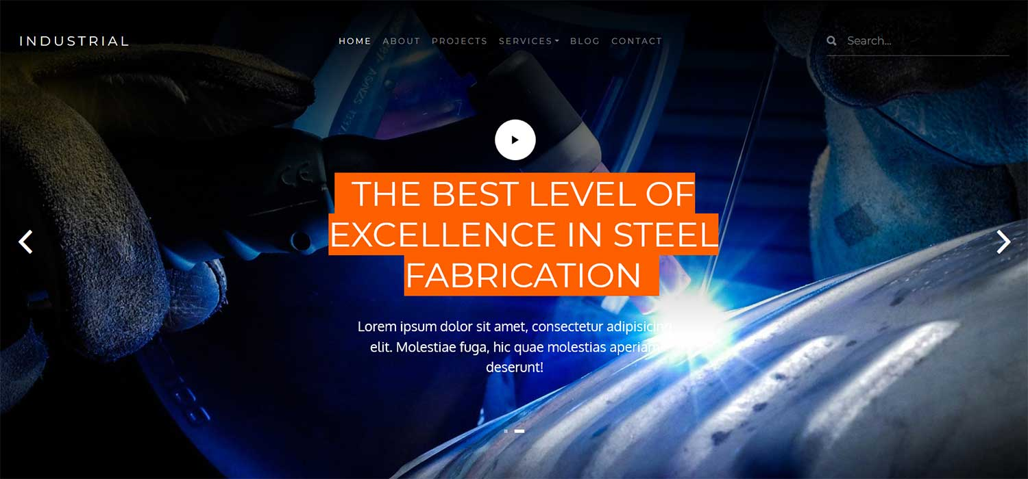Industrial - Free HTML5 Bootstrap Steel Business Website Template