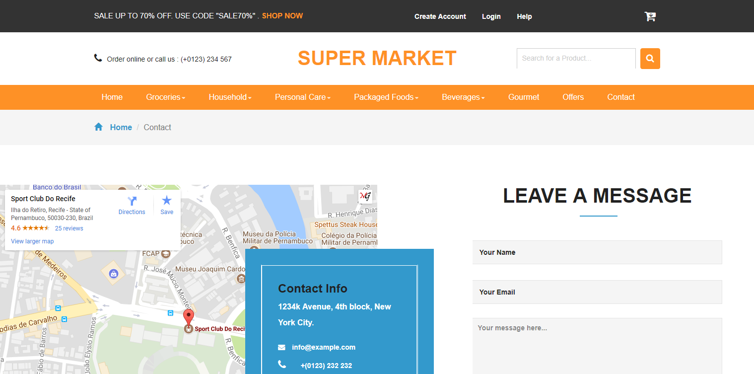Super Market Responsive Bootstrap E Commerce Template Mg