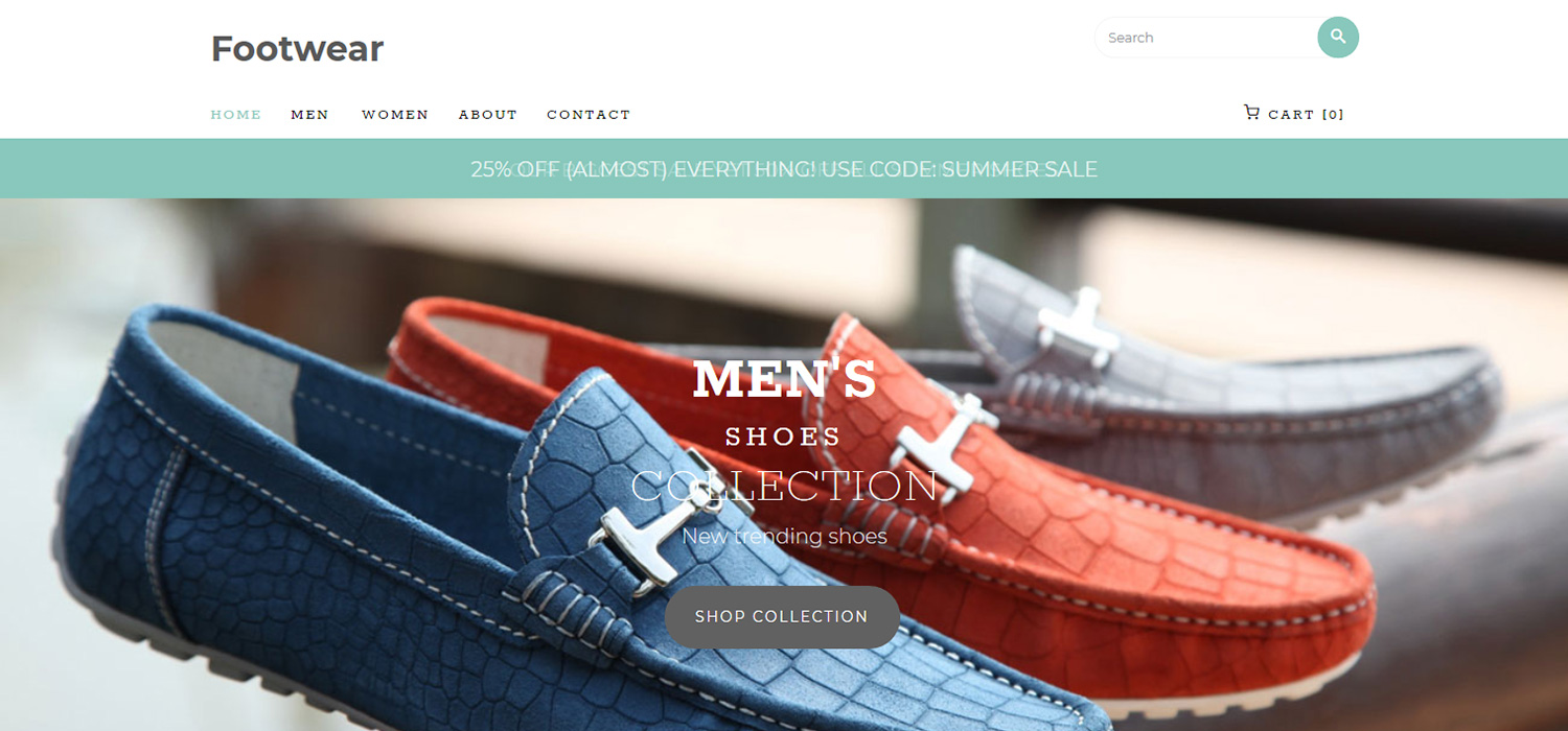 Footwear - eCommerce Website Template