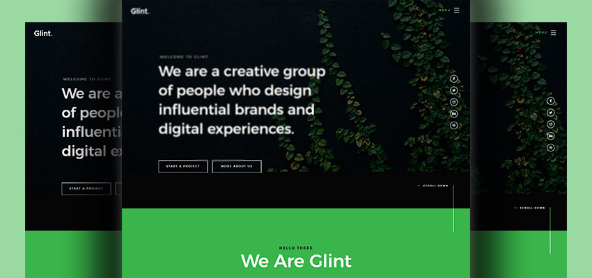 Glint - Landing page design for small business