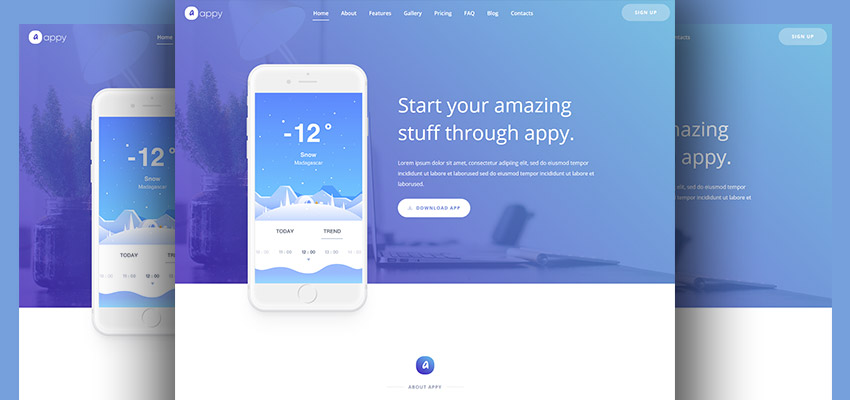 Appy Website Template