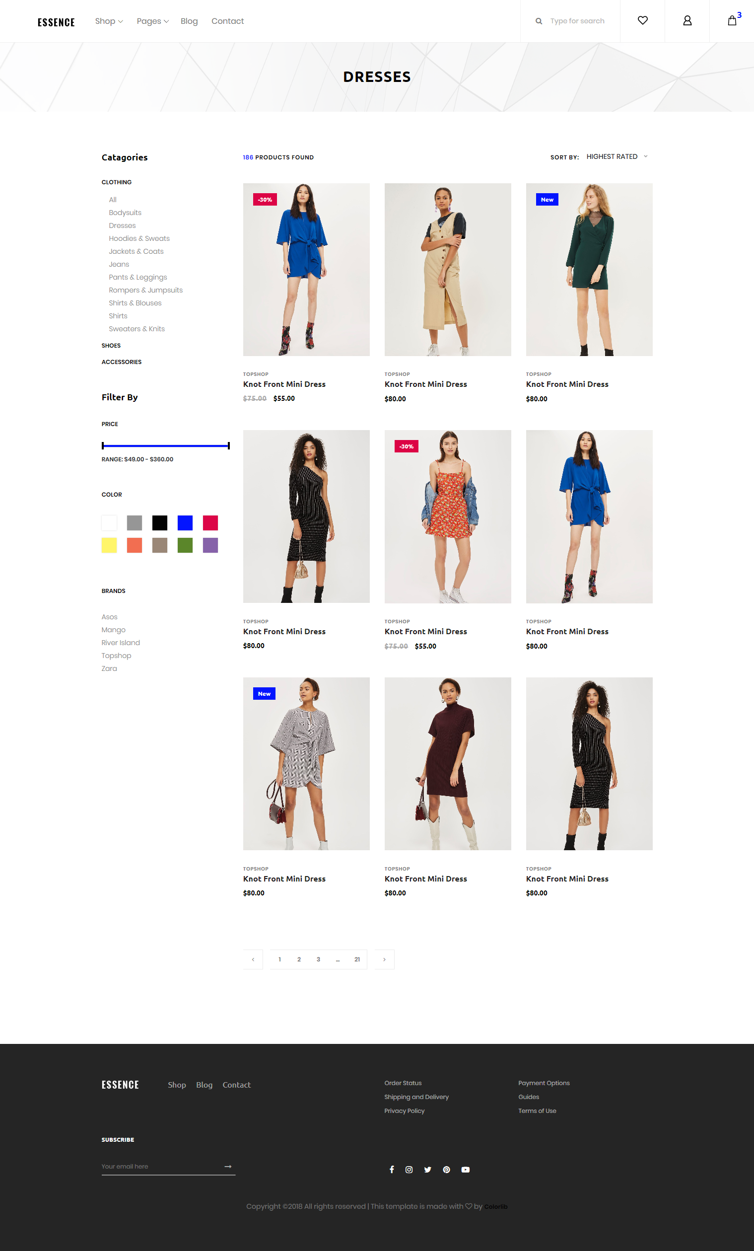 Essence Template Product Page