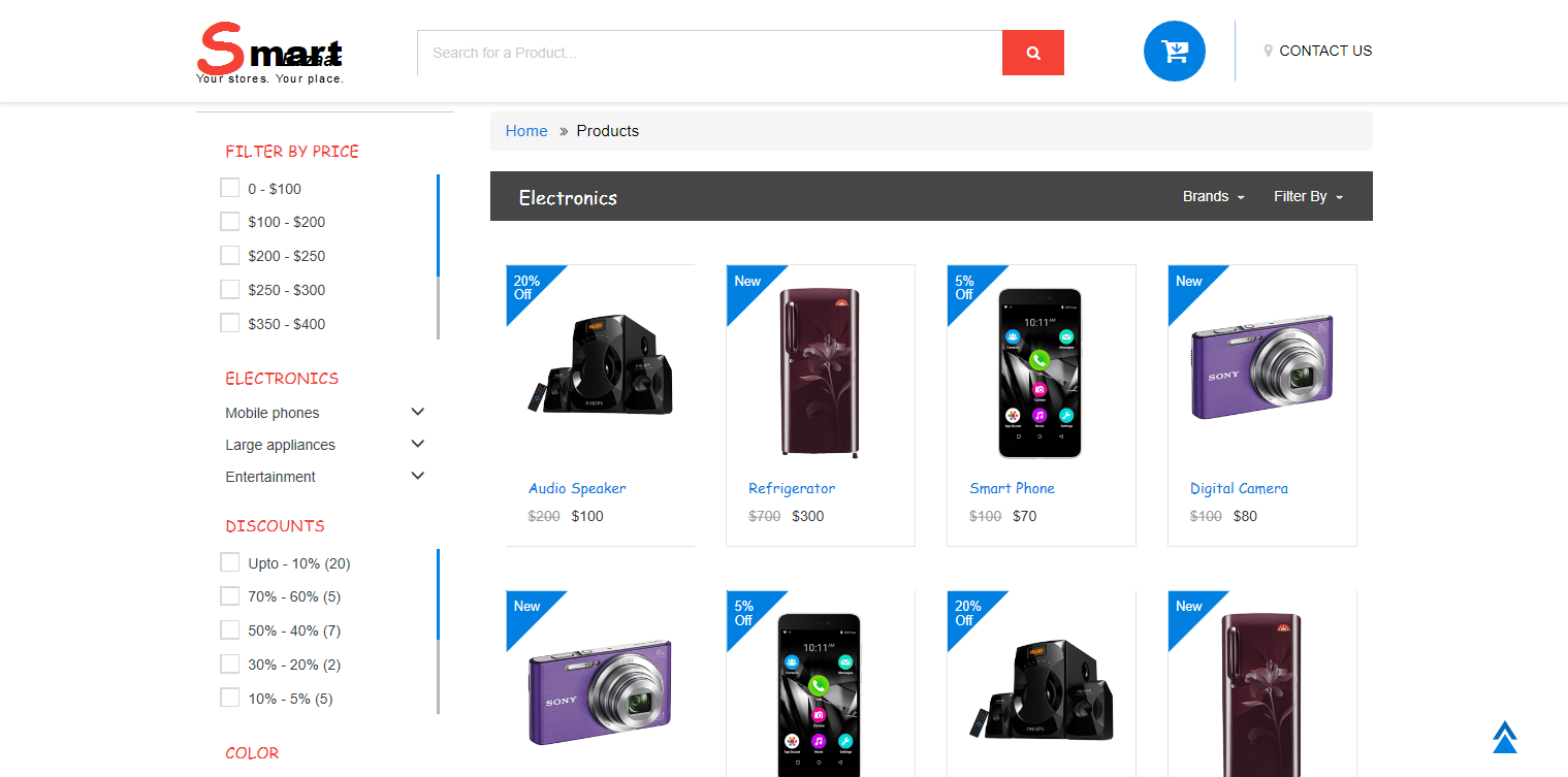 Ecommerce HTML Template - Smart Bazaar