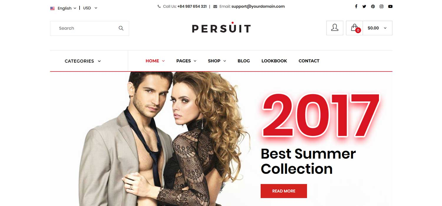 Persuit -‌ ‌‌Free‌ ‌Mutli-Purpose eCommerce Website Template‌ | HTML5‌ ‌Bootstrap‌ 4