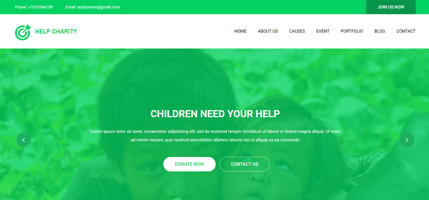 Charity Website Free HTML5 Template