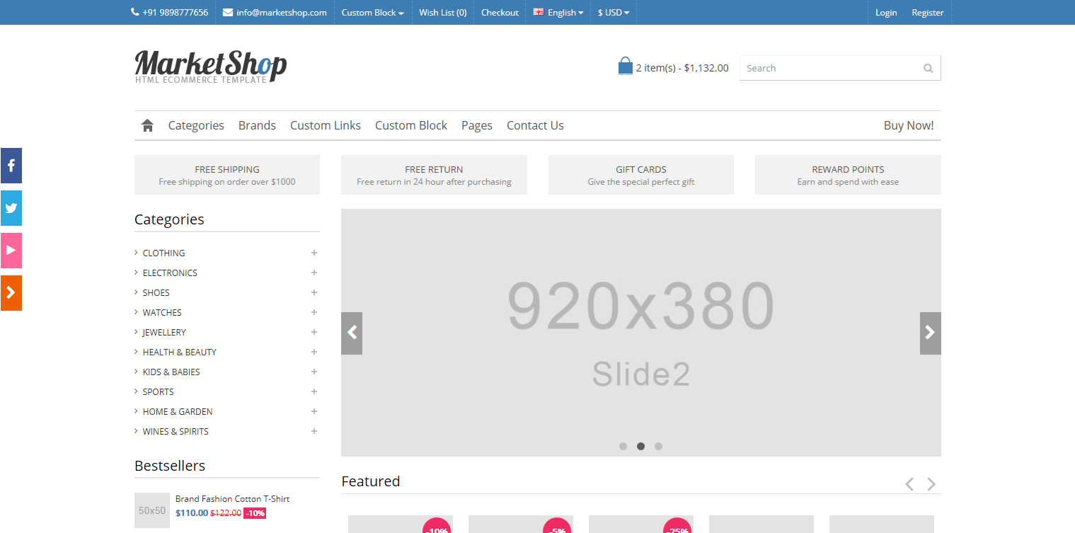 MarketShop - Responsive Bootstrap E-commerce Template