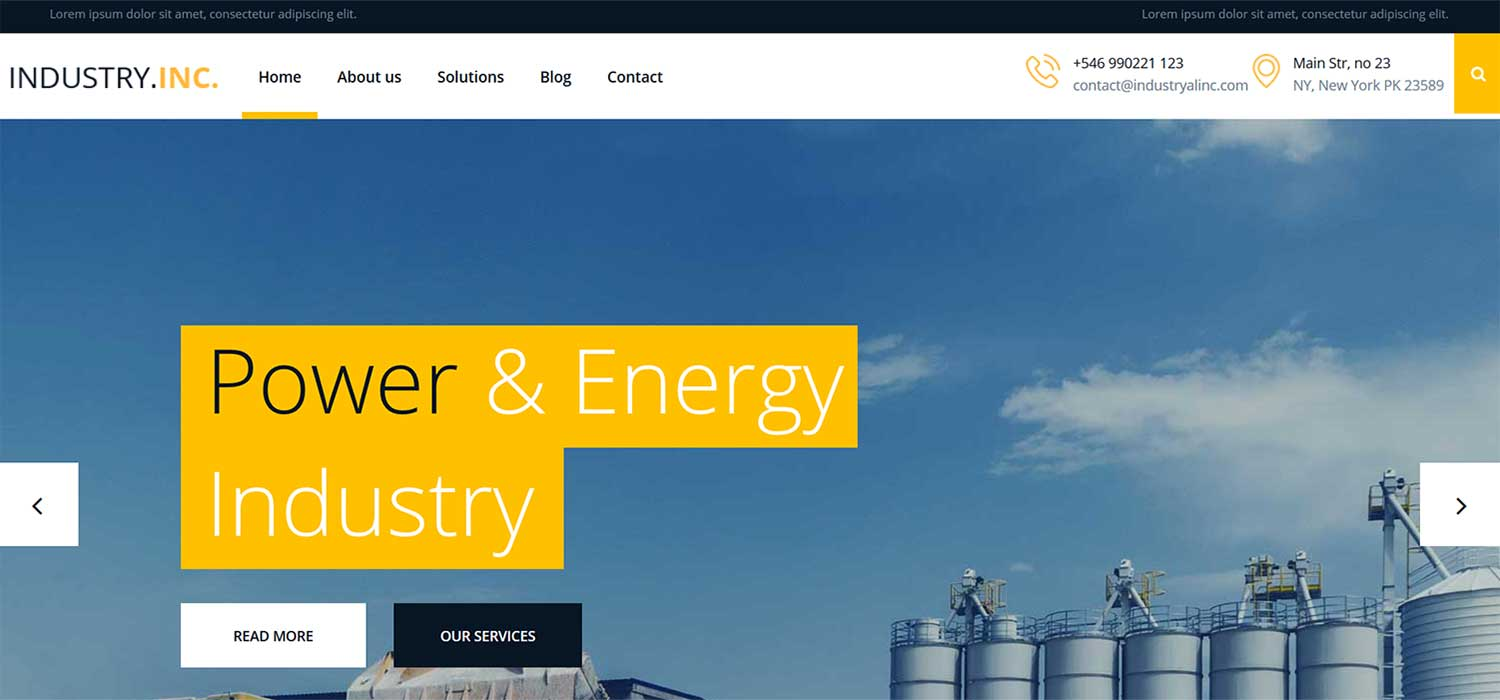 Industry Inc - Free HTML5 Bootstrap Business Website Template