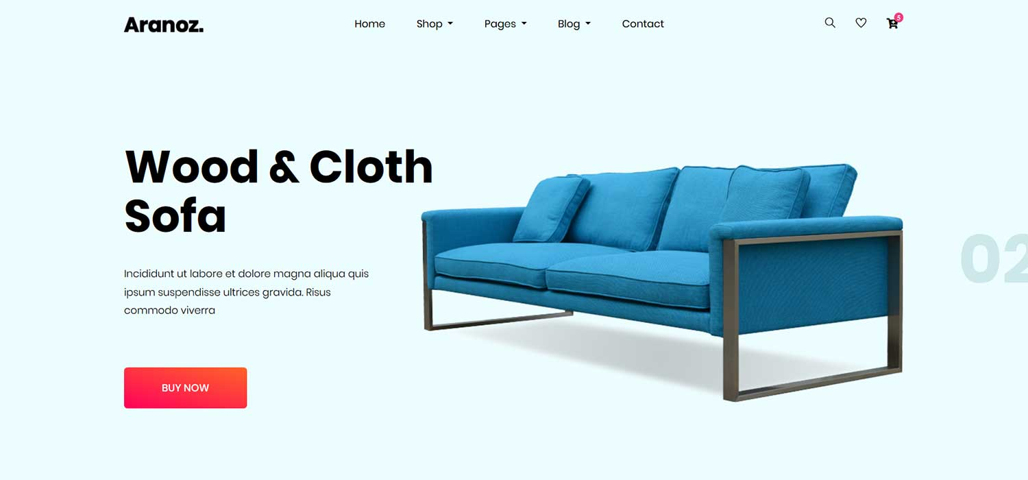 Aranoz -‌ ‌‌Free‌ Furniture ‌eCommerce Store ‌Template‌ | HTML5‌ ‌Bootstrap‌